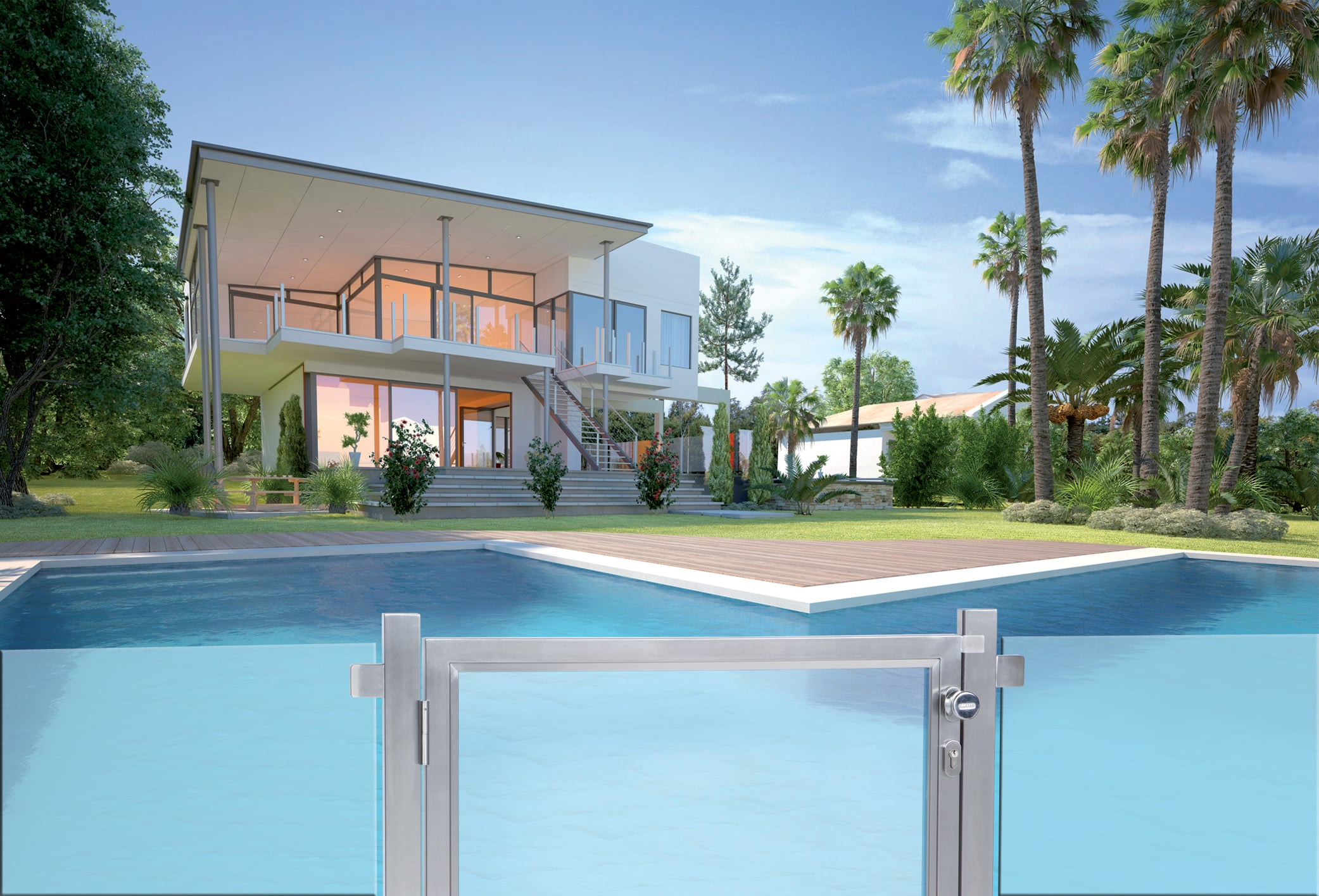 barriere piscine design les barri res de s curit piscine. Black Bedroom Furniture Sets. Home Design Ideas